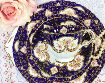 "Royal Stafford ""Heritage"" 29 Piece Complete English Tea Set Trio Cup, Saucer, Plate, Teapot 4 Tea Party, Wedding, Tea Time #798"