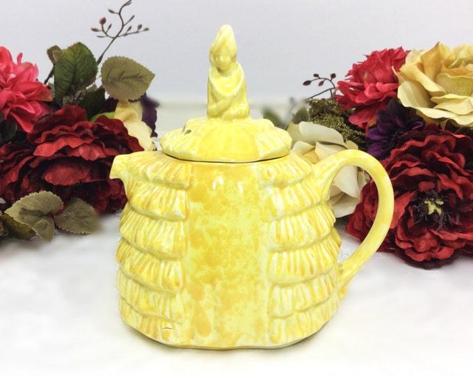 Yellow Sadler Ye Daintee Ladyee Crinoline Lady Collectable Sadler Teapot, England For Tea Set, Party, Wedding, Shower #743
