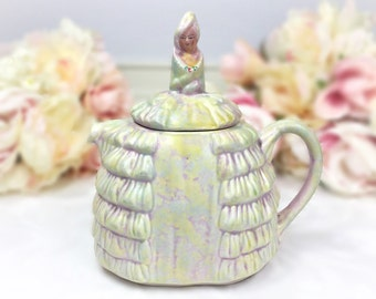 Ye Daintee Ladyee Teapot, Crinoline Lady Teapot, Collectable Sadler Teapot, Dainty Lady Sadler English Teapot Tea Set, Wedding #A598