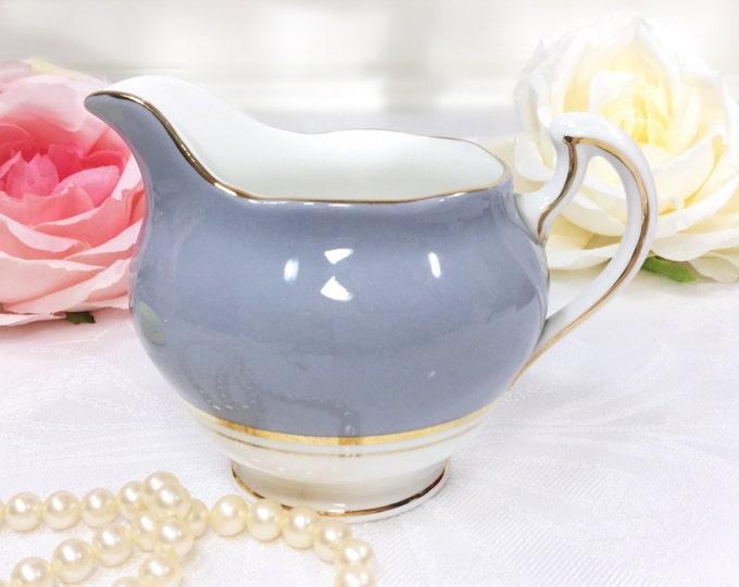 Colclough Grey Ballet Gilt Bone China English Creamer, Fine Bone China for Tea Set, Tea Party, Wedding, England #A205