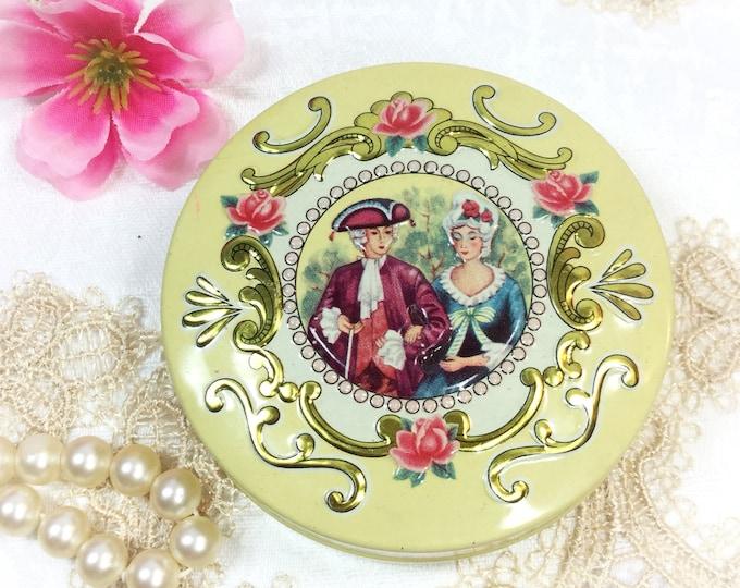 Vintage English Victorian Tin, Victorian Tea Tin, Tin Tea Caddy, Tea Storage for Tea Time, Tea Party,  Trinket Box, Photography Prop  #B286