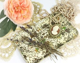 Vintage Floral Trinket Tray, Floral Vanity Tray, Serving Platter, Floral Serving Tray, Boudoir #B506