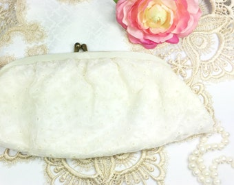Vintage Ivory Clutch, Ivory Hand Bag, Victorian Purse, Vintage Ivory Hand Bag #B452
