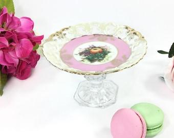 Royal Halsey Scalloped Edged Compote Serving Dish, Candy Dish, Platter, Jewlery holder, Trinket Holder, Gift #B005