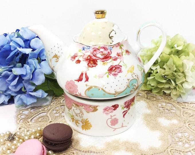 Chic Teapot and Warmer, Tea Party Teapot Set, Teapot and Teapot Warmer, Teapot Trivet, Teapot Stand #B422