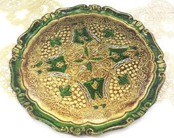 Large Florentine Tray, Mid-Century Florentine Trinket Tray, Florentine Vanity Tray, Boudoir Tray #B497