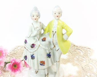 Colonial Man and Woman Porcelain Figurine, Japan Porcelain Figurine, Colonial Figurine For Anniversary, Wedding, Romantic Decor, Gift #B287