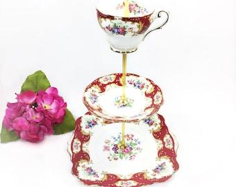 Royal Standard Lady Fayre 3 Tier, English Tea Serving Tray, China Serving Platter, Sandwich Platter, for Wedding, Tea Party #B212