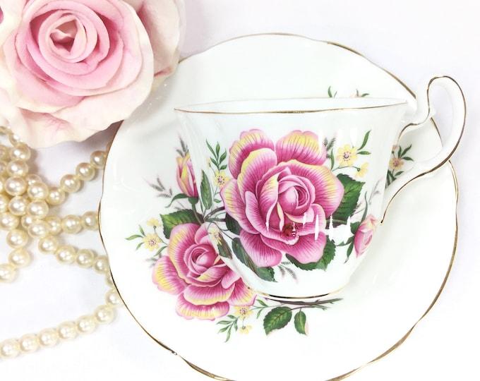 Vintage Adderley Fine Bone China Tea Trio, English Tea Set, Fine Bone China English Tea Cup and Saucer for Tea Time, Tea Party #B164