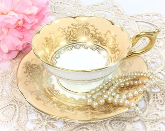 Exquisite Coalport Victoria Regina Bone China English Tea Cup & Saucer, Wedding Shower, Tea Time, Bridal, Tea Party, Gift #B347