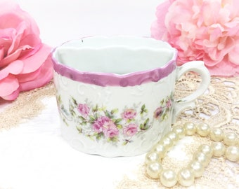 Enchanting Mustache Tea Cup, Mustache Cup, Pink China Tea Cup For Wedding Shower, Tea Time, Bridal, Tea Party #B364