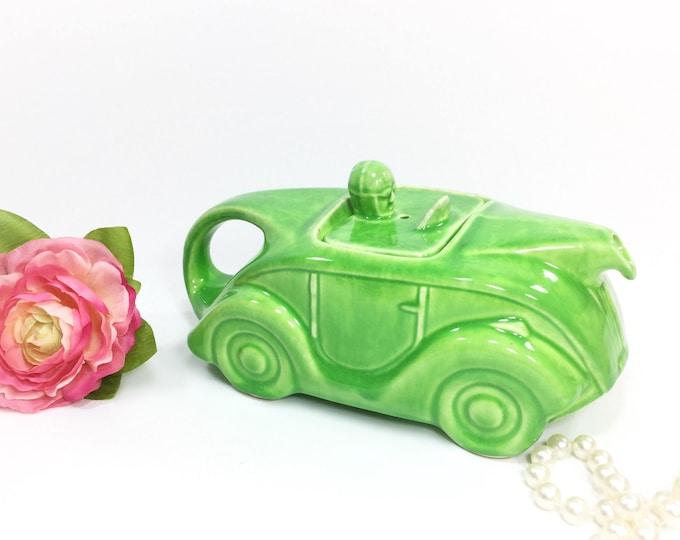 Green Sadler Racing Car Teapot, Art Deco Car Teapot, Collectible Sadler Teapot, Green Sadler English Car Teapot #A973
