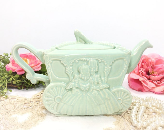 Stunning Ellgreave Cinderella Step Sisters Carriage Slipper Teapot For Tea Time Tea Party, Princess Tea Party, Baby Shower, Wedding #B380