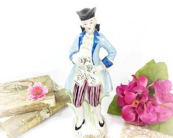 Colonial Man Porcelain Figurine, Made in Occupied Japan Porcelain Figurine, Colonial Figurine For Anniversary, Wedding, Romantic Decor #B287