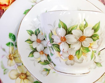Charming Vintage Duchess Floral Lovely Mismatched Tea Set Trio Perfect for Tea Party Wedding Shower Tea Time Gift #193