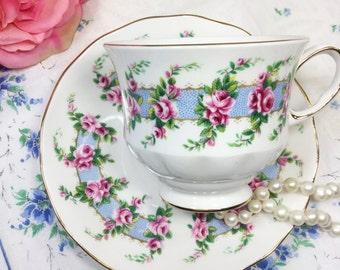 Queen Anne Bone China English Tea Cup & Saucer Tea Set Tea Party, Shower, Wedding #942