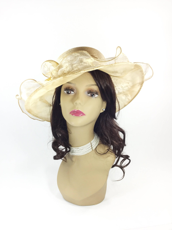 a024348b133ef Beautiful Brown Ladies Tea Party Hat Ladies Summer Hat Dress | Etsy