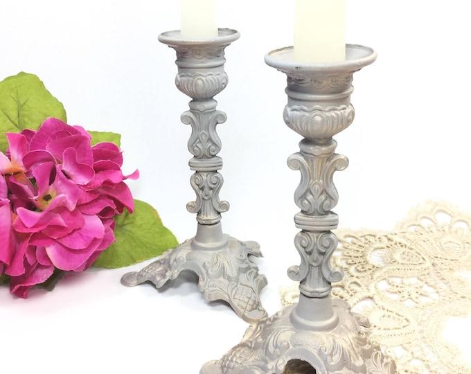 Pair Italian Action Candlesticks For Formal Dining, Pair Italian Candle Sticks Tea Party/Wedding/Shower/Tea Time #B126