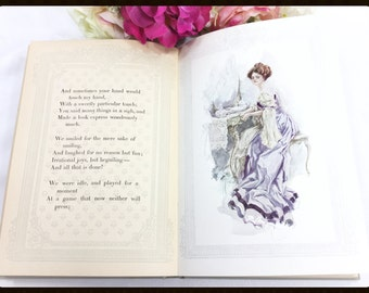 RARE! Antique Hardback Bachelor Belles 1908 Print by Harrison Fisher, Fisher Girl, Harrison Fisher Bachelor Belles # A671
