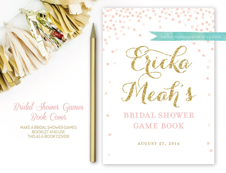 picture about Printable Bridal Shower Game named Bridal Shower Match E book Protect . Printable Bridal or Youngster Shower Online games Booklet Go over Website page . Printable Electronic Obtain . Bridal Shower Do it yourself