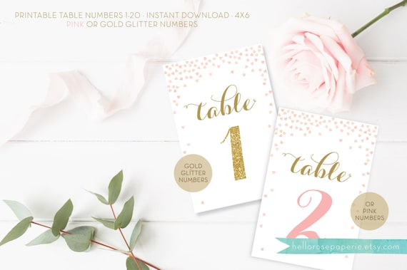 table numbers printable cards wedding table numbers 1 40 etsy