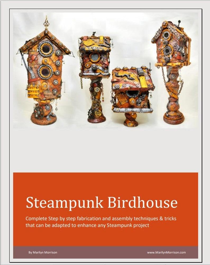 Steampunk Birdhouse Tutorial downloadable .pdf file image 0