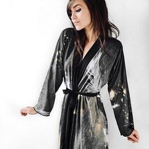 Moon Kimono  Witch Clothing  Kimono Robe  Kimono Jacket  Sheer Robe  Boudoir Robe  Pagan Robe  Goddess Robe  Beach Cover Up