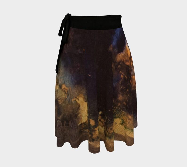 Wrap Skirt  Circle Skirt  Ballet Skirt  Witch Clothing  Knee Length Skirt  Goth Skirt  Bohemian Skirt  Gypsy Skirt  Abstract Skirt