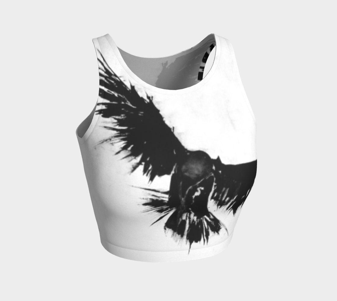 584fd91c357ef0 Raven Crop Top crow crop top raven yoga top raven