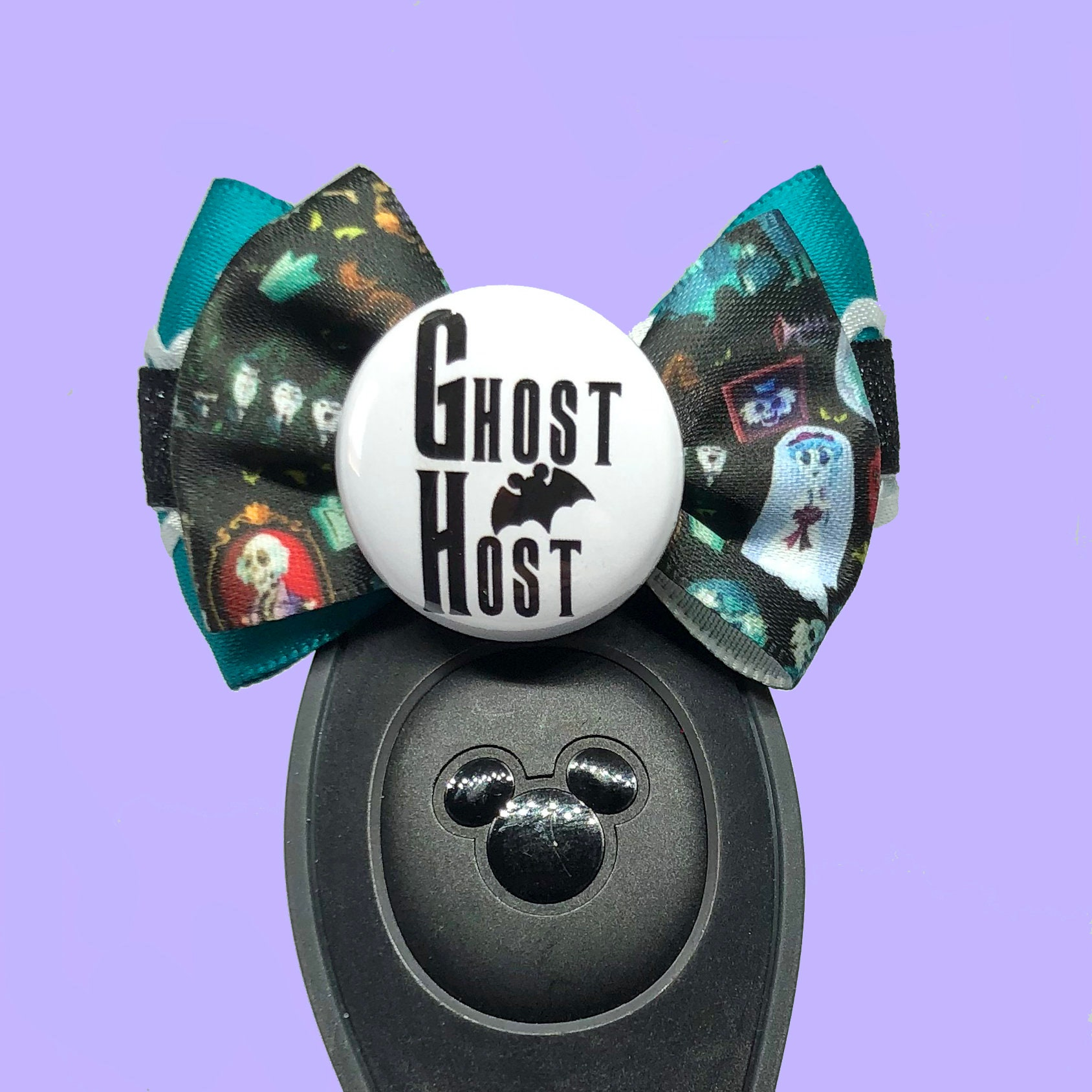 Ghost Host Magic Band Bow - Ribbon Placement Will Vary!