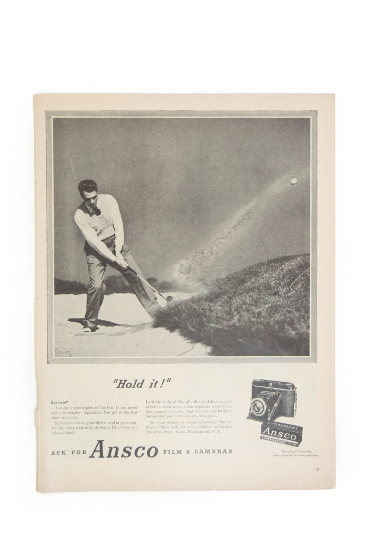 1947 Hanes Ad Magazine Advertisement Wall Art