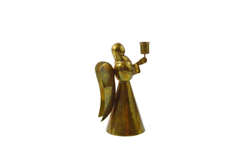 Angel Candle Holders Brass Tin Copper Candle Holder Angels Angel Candle Holders Candlestick Holder Christmas Candle Gift Idea Mid Century