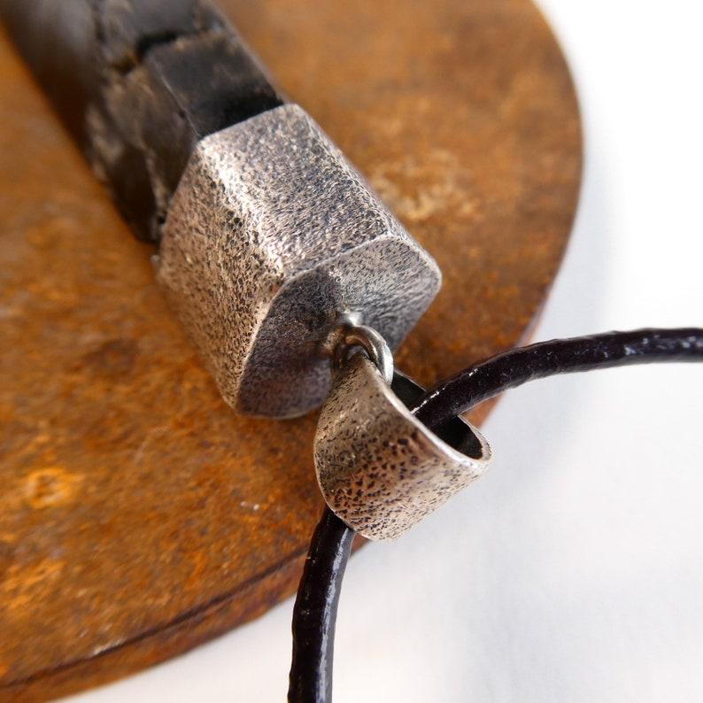 Big  Natural SmokeyBlack Himalayan Quartz Textured  Sterling Silver  Pendant