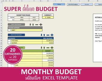 budget planner etsy