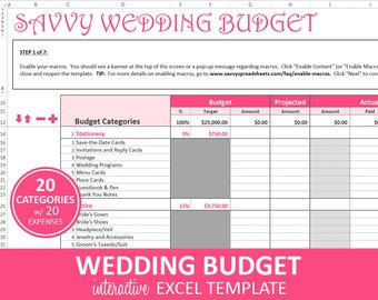 wedding budget etsy