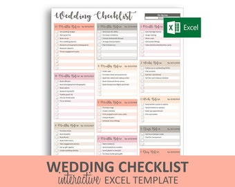 graphic relating to Printable Wedding Checklist Timeline named Wedding ceremony list Etsy