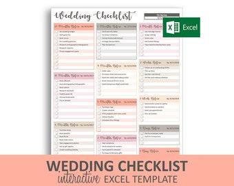 Wedding Checklist Template.Wedding Checklist Etsy