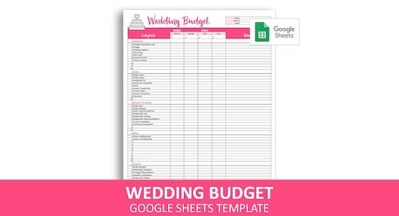 Easy Wedding Budget - Google Sheets Template | Wedding Budget Planner |  Wedding Expenses Tracker | Instant Digital Download
