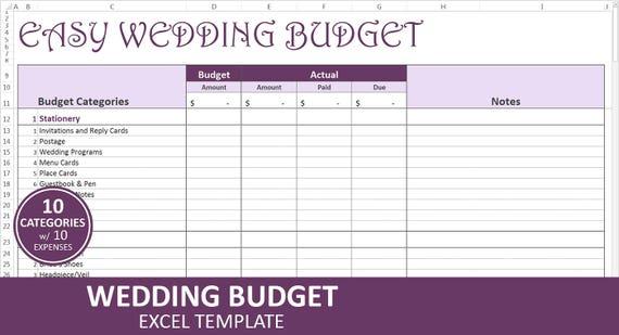 Einfach Hochzeit Budget lila Hochzeit Budgetplaner | Etsy