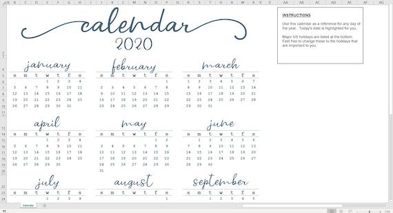 Calendrier 2020 Fete Des Meres.Elegant Annuelle Calendrier 2020 Modele Excel Calendrier Annuel Imprimable Telechargement