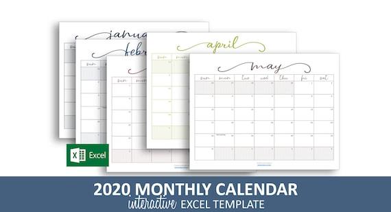 Calendrier 2020 Format Excel.Elegant Mensuel Calendrier 2020 Modele Excel Calendrier Mensuel Imprimable Code Couleur Des Evenements Telechargement