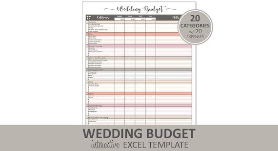 Pfirsich Hochzeit Budget Budget druckbare Hochzeit Excel