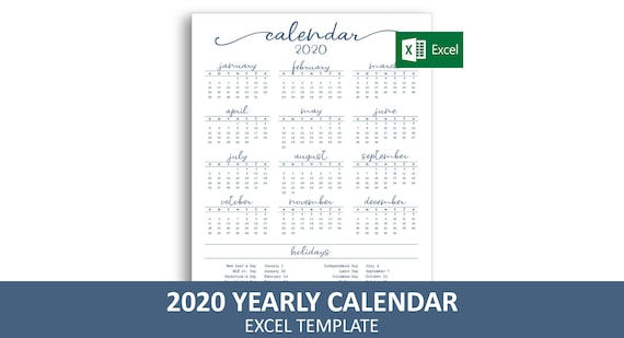 Calendrier 2020 Excell.Elegant Annuelle Calendrier 2020 Modele Excel Calendrier Annuel Imprimable Telechargement