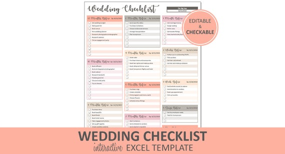 peachy wedding checklist wedding to do list printable and etsy