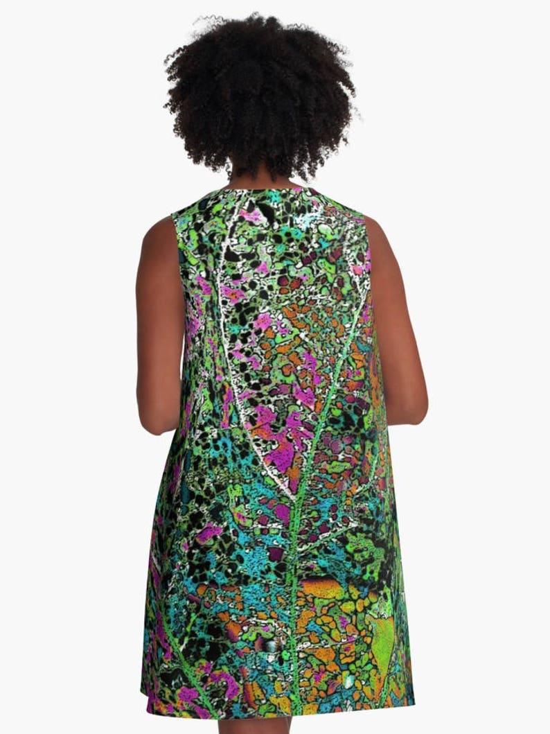 MATRIX 1 A-Line Swing Dress Trapeze Dress XS S M L XL 2XL Abstract Photo Art Pink Blue Orange Green Black Woman Teen Wearable Art Clothing