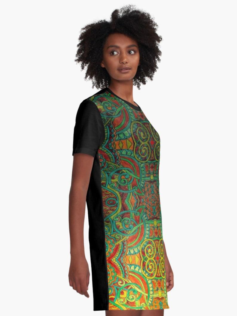 Indian Sunrise   T-Shirt Dress XS S M L XL 2XL Woman Teen Wearable Art Clothing