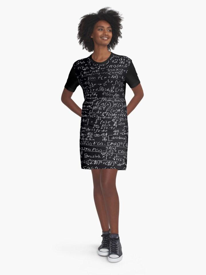 calcul t shirt robe noir blanc science nombres. Black Bedroom Furniture Sets. Home Design Ideas