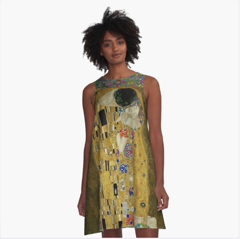 Trapèze S Xl 2xl Ligne Wearable Vêtements Xs Ado Klimt Le M Robe A Femme Baiser L De Gustav Art zMUGqSVp