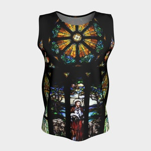 Her Heart Shines Through Loose Tank Top XS-S-M-L-XL Summer Clothes Comfort Women Teens Clothing Canadian Fashion Wearable Art Womens Tops