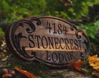 Woodland Decor Sign Custom Wood Signs Personalized Wood Sign Lodge Sign Lodge Decor Custom Carved Wood Sign Wood Signs Outdoor Sign Gift